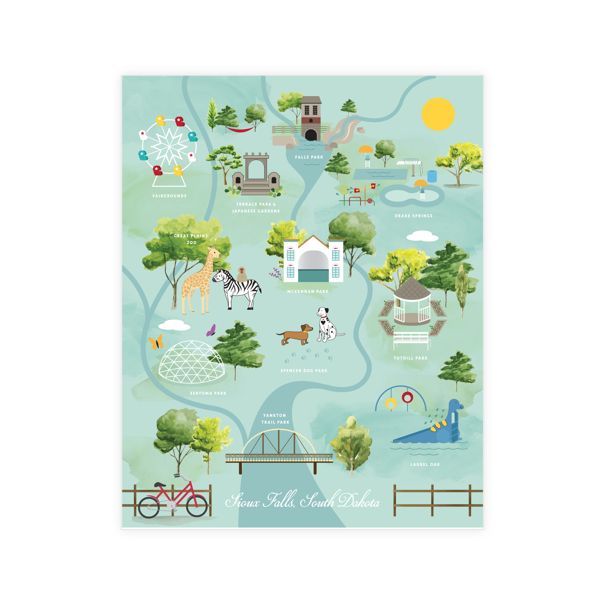 Sioux Falls Parks & Pools Print