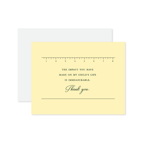 Immeasurable Letterpressed Card