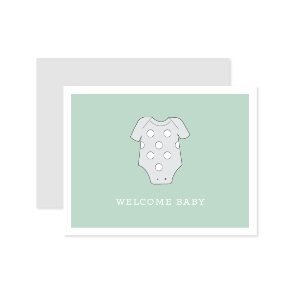 Green Welcome Baby Card