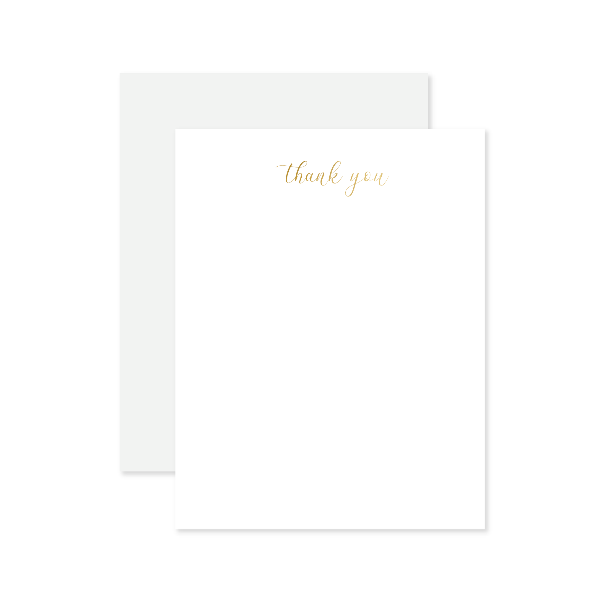 Script Thank You Foil Flat Note Set