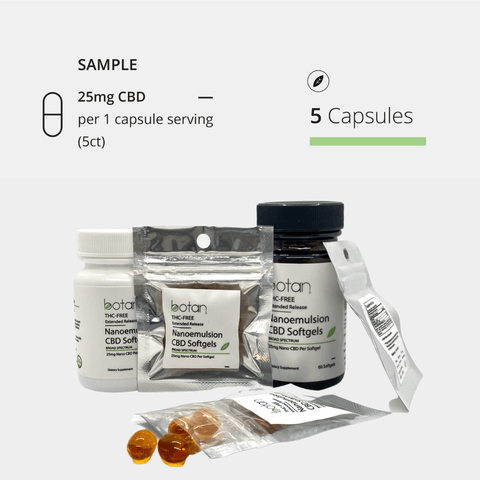 25mg CBD Extended Release Nano Softgels - 5 Day Trial (5ct)