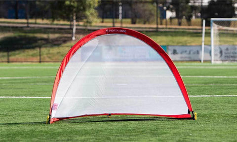 Round Pop Up Football Goal Pair - 2 Years Warranty