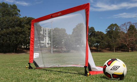 Square Pop Up Football Goal Pair - 2 Years Warranty
