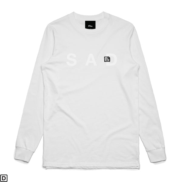 SAD FILE Long Sleeve White