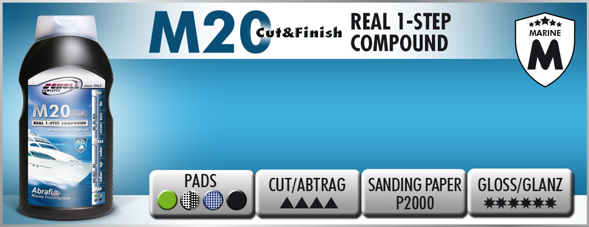 NAUTIC STAR M20 CUT & FINISH REAL 1-STEP COMPOUND by SCHOLL Concepts Marine - D-Tail Lab