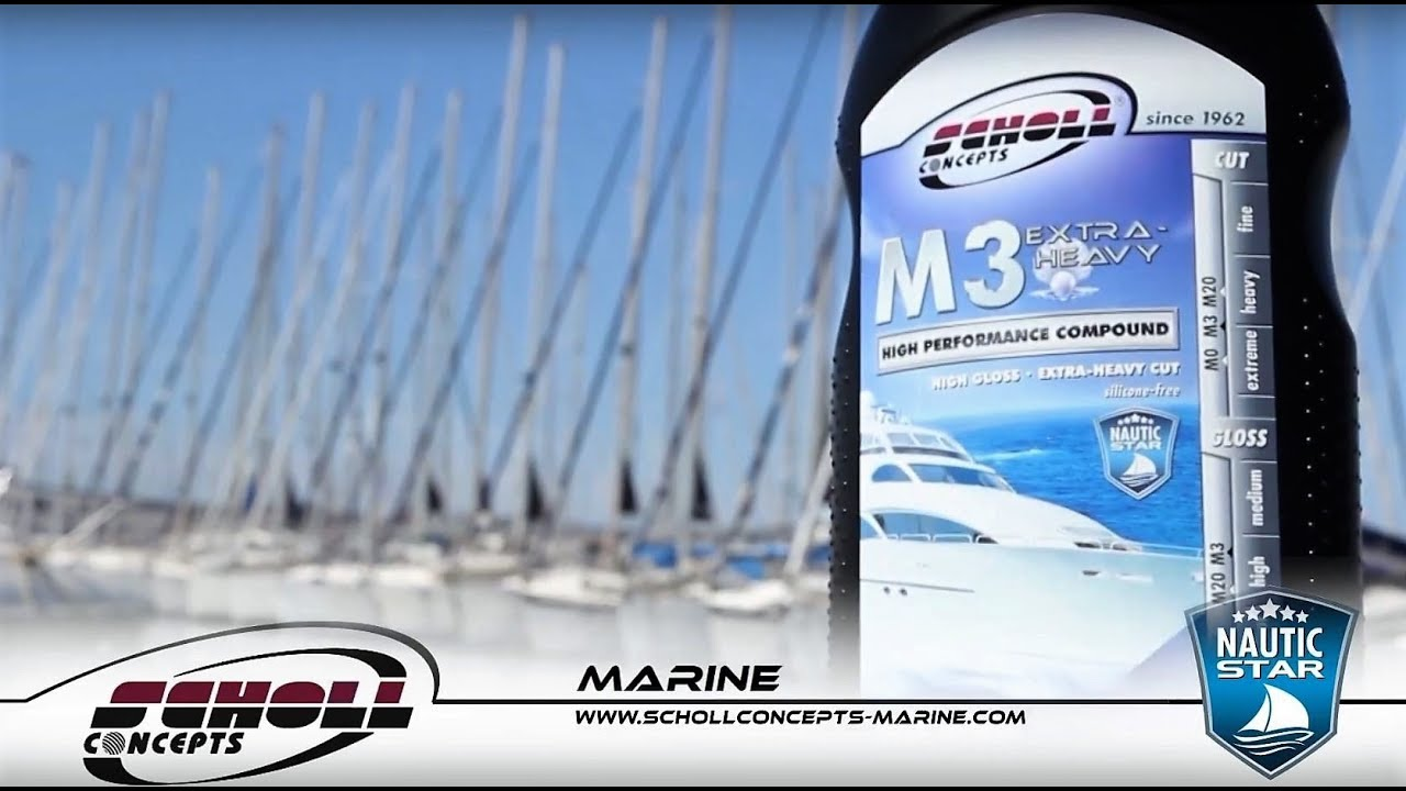 NAUTIC STAR M3 Extra Heavy Cutting Compound by SCHOLL Concepts Marine - D-Tail Lab