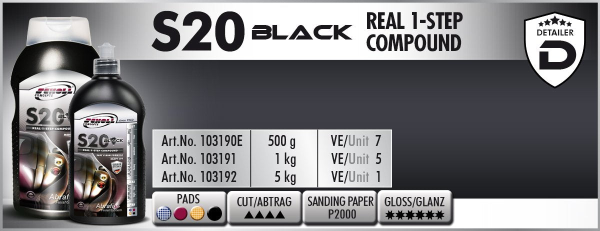 S20 BLACK Real 1-Step Compound - D-Tail Lab