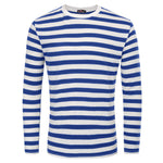 Men's Basic Striped T-Shirt Crew Neck Cotton Shirt