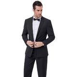 Stylish Men's Casual Slim Fit Formal One Button Suit Blazer Coat + Pants S-2xl