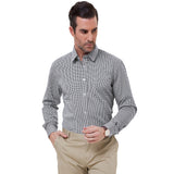 Mens Stylish & Slim Fit Casual Grid Long Sleeve Shirt Tops
