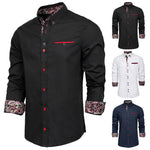 Paul Jones Men's Stylish & Slim Fit Long Sleeve Button-Down Collar Shirt Tops S-XL New
