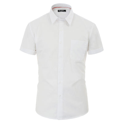PJ Paul Jones Men's Solid Color Short Sleeve Square Collar Button Placket Shirt Tops
