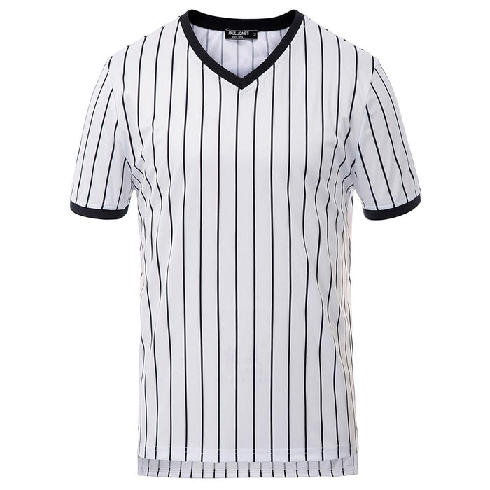 Mens Vertical Pattern Sport Gym Muscle Jersey Short Sleeves Tee Tops T Shirts PJ