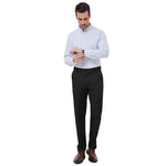 Paul Jones Men Straight Leg Casual Pants Regular Fit Formal Business Long Pencil Trousers