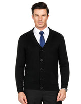 PJ Mens V-neck Shawl Collar Button Down Knitwear Casual Business Coat Cardigan