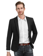 Men's Slim Fit One Button Blazer Jacket Casual Suit Jacket