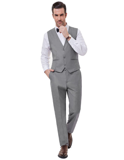 Formal Men's Stylish Slim One Button Blazer Suit Coat+vest+pants Trousers 3pcs