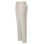 Rayon & Linen Pants Trousers Drawstring Elastic Waist Loose Fit Casual