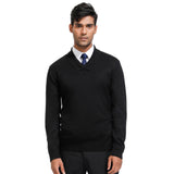 PJ Paul Jones Men's Stylish Long Sleeve Shawl Lapel Pullover Knitting Sweater Knitwear