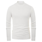 Paul Jones Men's Comfy Mock Neck Knitting T-Shirt Tops Long Sleeve Stylish & Slim Fit