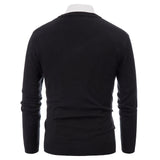 Paul Jones Men's Diamond Pattern Long Sleeve V-Neck Pullover Knitting  Sweater Knitwear