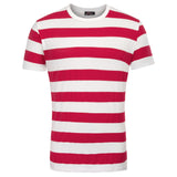 Men's Crewneck Short Sleeve Striped T-Shirt