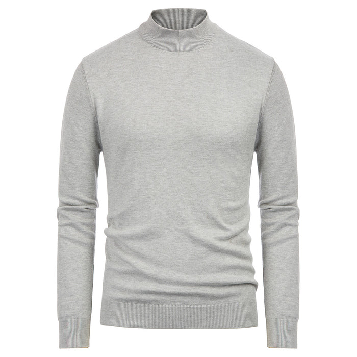 Paul Jones Men's Stylish Long Sleeve Mock Neck Pullover Knitting Sweater Knitwear