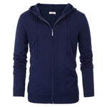 PAUL JONES Mens Hooded Cardigan Sweater Full Zip Sweatshirt