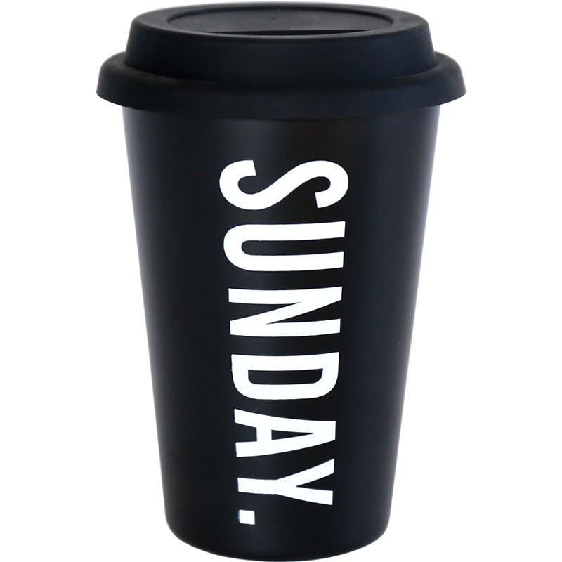 "Reusable coffee cup ""Sunday"""