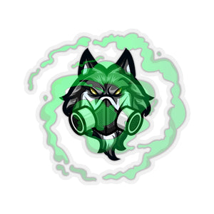 TOXICbiowolf Kiss-Cut Sticker 4-Inch