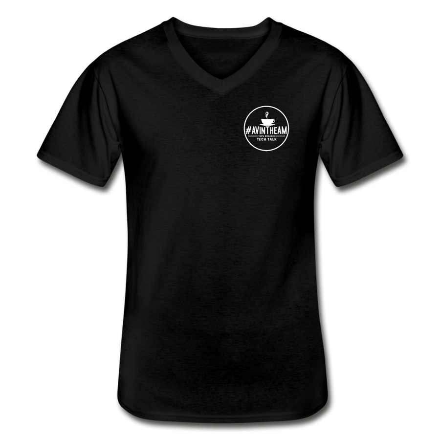 AVinTheAM™ V-Neck T-Shirt - black