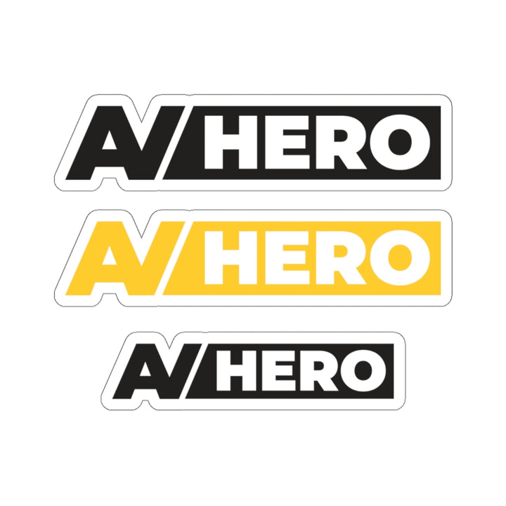 AV HERO Kiss-Cut Stickers