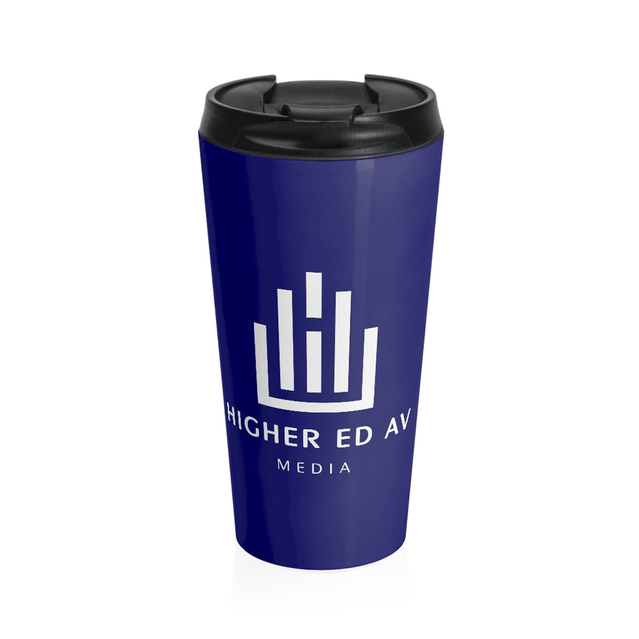 Higher Ed AV Podcast Stainless Steel Travel Mug