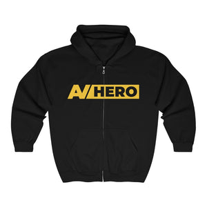 AV HERO Unisex Heavy Blend Full Zip Hooded Sweatshirt