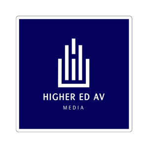 Higher Ed AV Podcast Square Sticker