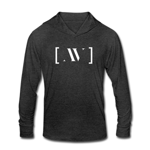 AV Educate Lightweight Tri-Blend Hoodie Shirt - heather black