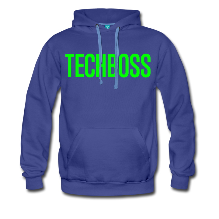 TECHBOSS® NEON Foil Green Men's Premium Hoodie - royalblue