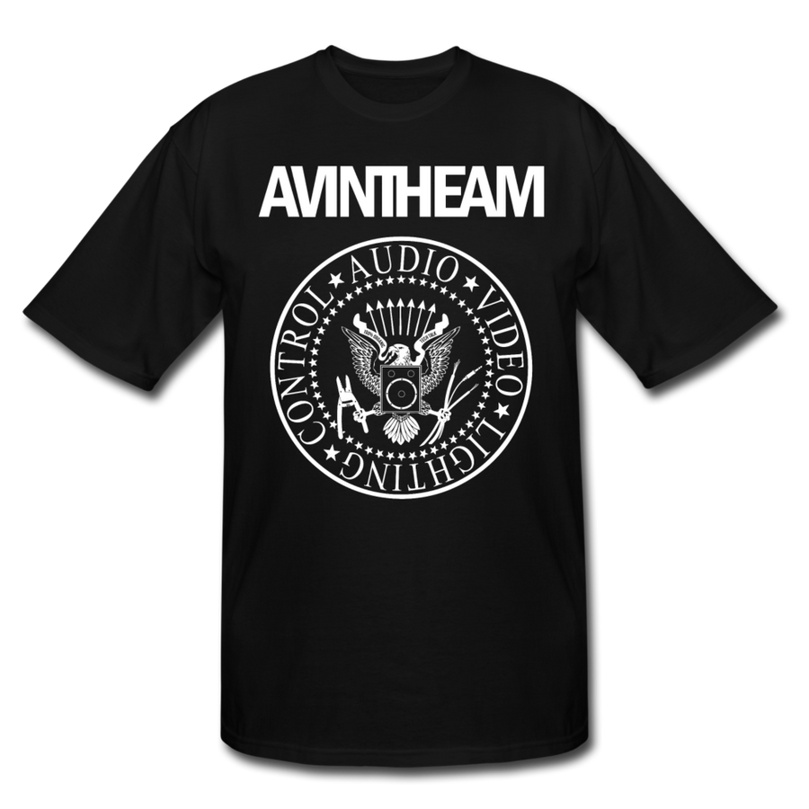 AVinTheAM Men's Tall T-Shirt | LT, XLT, 2XT, 3XT - black