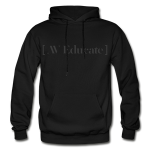 AV Educate Backstage Black Heavy Blend Adult Hoodie