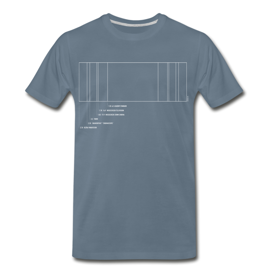 Film Aspect Ration Premium T-Shirt (EXCLUSIVE) - steel blue