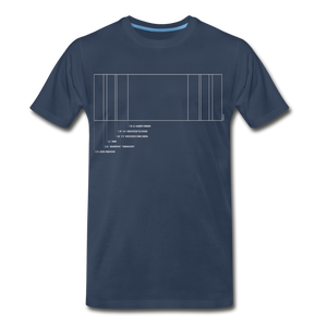 Film Aspect Ration Premium T-Shirt (EXCLUSIVE) - navy