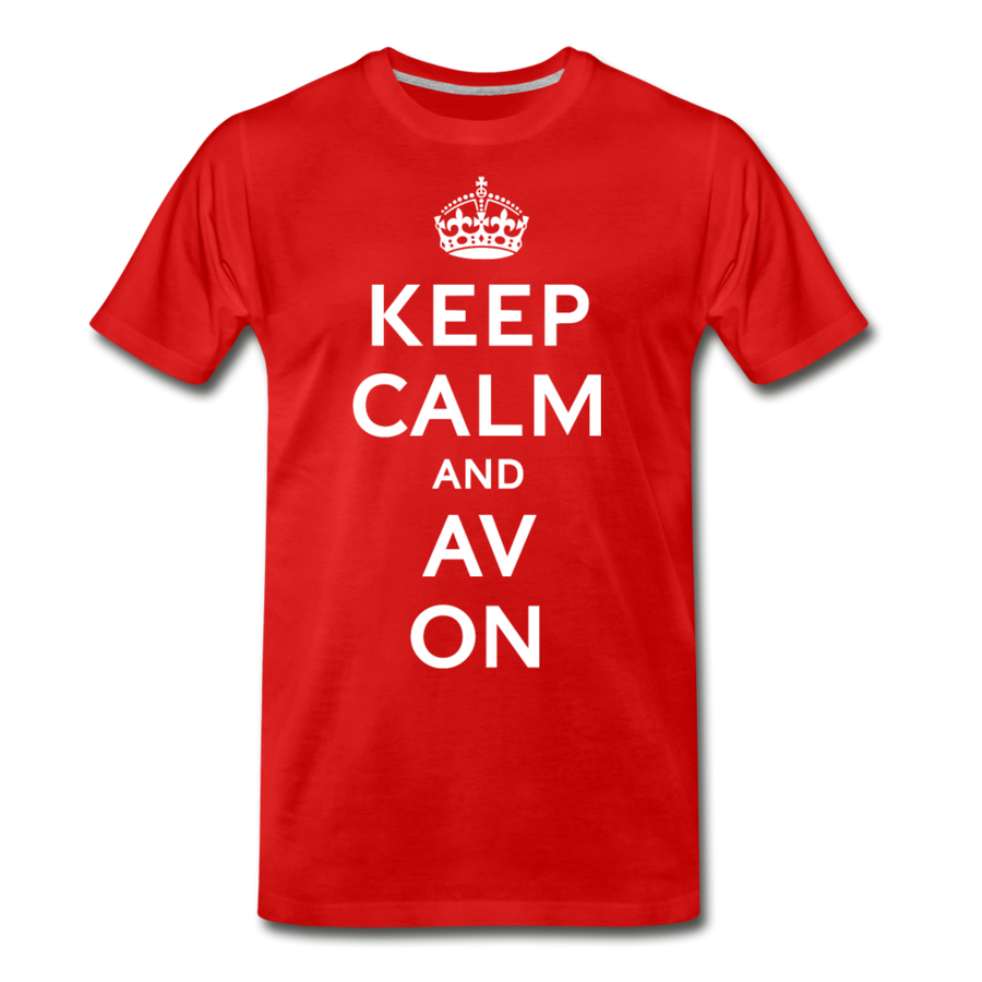 Keep Calm And AV On Premium T-Shirt (EXCLUSIVE) - red