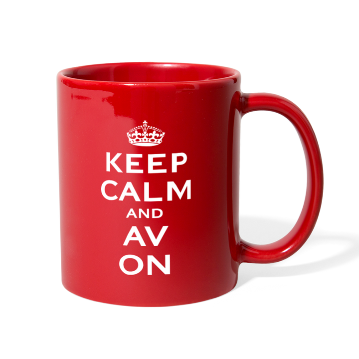 Keep Calm And AV On Full Color Mug (EXCLUSIVE) - red
