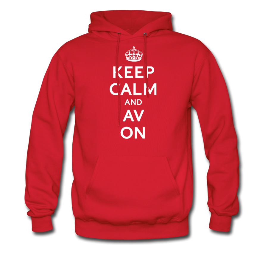 Keep Calm And AV On Hoodie (EXCLUSIVE) - red