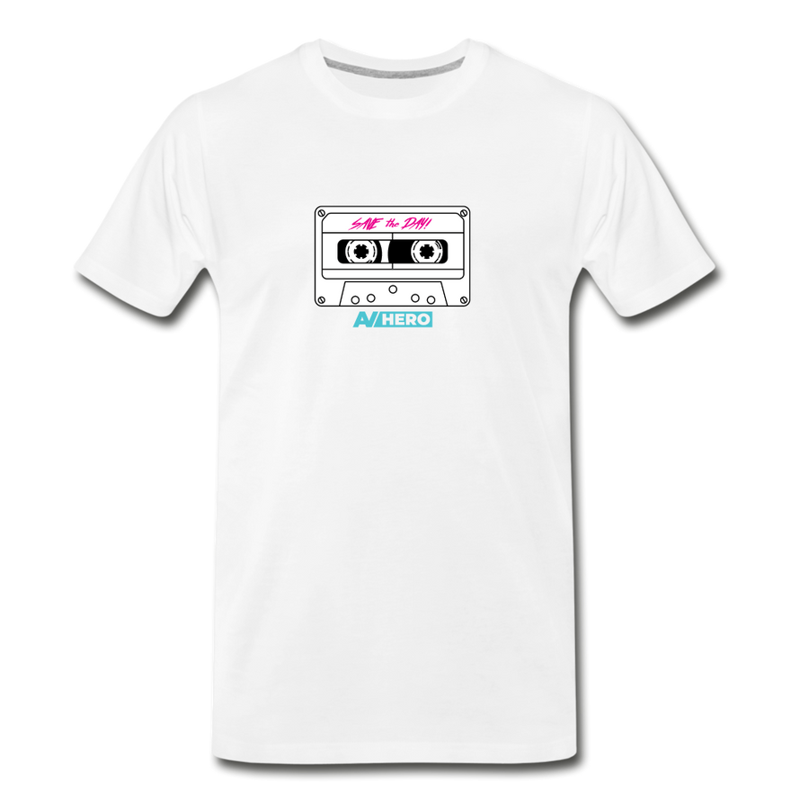 AV HERO Save the Day Premium T-Shirt - white