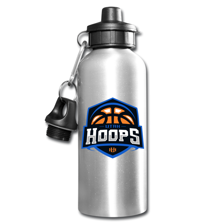 Utah Hoops Water Bottle - silver