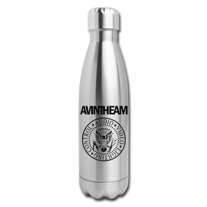 AVinTheAM Insulated Stainless Steel Water Bottle - silver