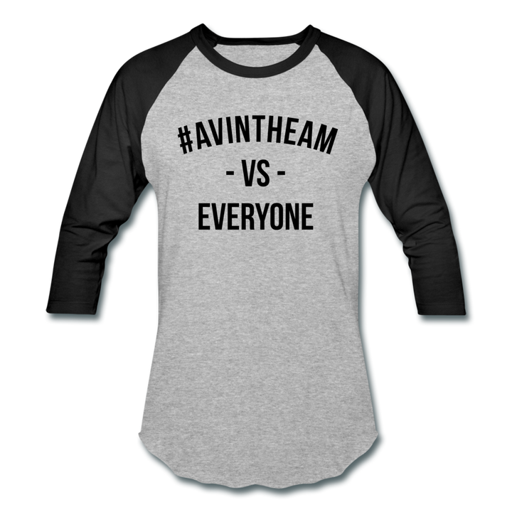 AVinTheAM VS Baseball T-Shirt - heather gray/black