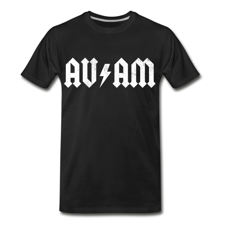 AVinTheAM High Voltage Men's Premium T-Shirt (LIMITED EDITION) - black