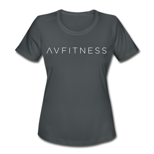 AVFITNESS Women's Moisture Wicking Performance T-Shirt - charcoal
